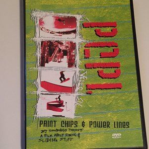 Rare Snowboard DVD - Paint Chips and Power Lines